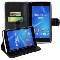 Xperia Z2 Wallet Case - Black
