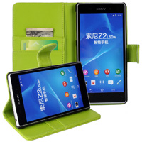 Xperia Z2 Wallet Case - Green