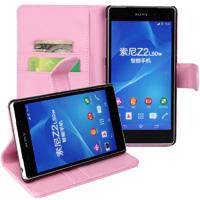 Xperia Z2 Wallet Case - Pink